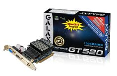 Galaxy GeForce GT 520 1 GB GDDR3 PCI Express 2.0 DVI/HDMI/VGA Passively Cooled Graphics Card, 52GGS4HX9DTX by Galaxy Technology. $50.95. From the Manufacturer                                                                                                 Galaxy Technology GeForce® GT 520 Silent 1 GB GDDR3 PCI Express 2.0 DVI/HDMI/VGA Passively Cooled Graphics Card, 52GGS4HX9DTX                                       GalaxyTech                                       ...