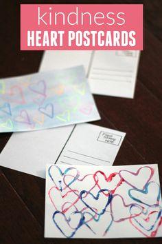 Toddler Approved!: Kindness Heart Postcards