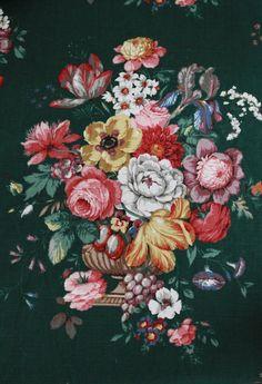 Vintage Sanderson Fabric Panel   The Linen Garden
