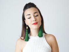40 % Rabatt auf Green Tassel Ohrringe Urlaub Outfit von epuu