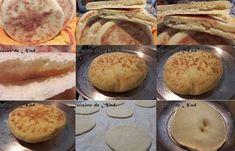 Voici Une recette par Nadiane toute simple du batbout ou pain à la poêle, que l'on peut faire grand ou tout petit pour farcir. Pain Pizza, Bon Appetit, My Recipes, Muffin, Gluten Free, Voici, Cooking, Breakfast, Food