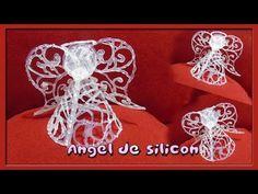 Manualidades  con silicòn (Ángel De Silicòn Caliente DIY) - YouTube