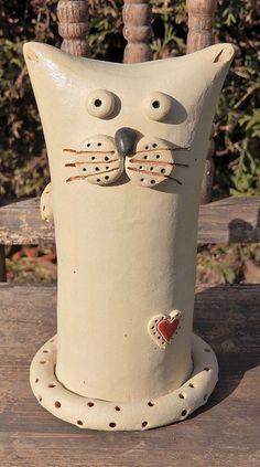 Katze+Herz+Keramik+Frostfest++von+Kleine+Töpferei+auf+DaWanda.com
