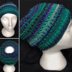 """Messy Bun Hat in yarn """"Unforgettable"""" Fabric Gift Bags, Messy Bun, Crochet Hats, Beanie, Creative, Unique, Handmade, Gifts, Etsy"""