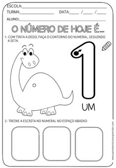 Alphabet Worksheets, Preschool Worksheets, Portuguese Lessons, Numbers Preschool, Finger Plays, Step Kids, Homeschool, Activities, Education
