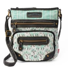 Unionbay Lace Floral Crossbody Bag Womenu0026#39;s Turquoise/Blue... ($23) Liked On Polyvore Featuring ...