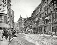 """Boston circa 1906. """"Washington Street"""