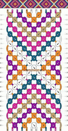 Normal Friendship Bracelet Pattern # 2146 This really looks easy! - # Normal Friendship Bracelet Pattern # 2146 This really looks easy! Bracelet Fil, Bracelet Crafts, Bracelet Making, Thread Bracelets, Macrame Bracelets, Handmade Bracelets, Embroidery Bracelets, Macrame Knots, Loom Bracelets