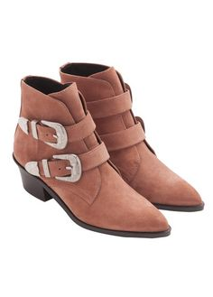 Bottines en cuir avec boucle style cow-boy Rose by BIMBA Y LOLA Bottines En 35c04a5c61e