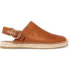 SAM EDELMAN   Jazzy leather espadrilles ($70) ❤ liked on Polyvore featuring shoes, sandals, leather sandals, leather espadrilles, leather strap sandals, sam edelman shoes and strap sandals