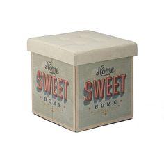 Sweet home Pouf rangeant rétro