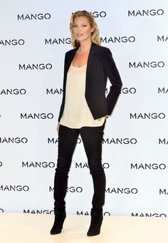Kate Moss Skinny Jeans - Kate Moss rocked a simple silhouette at the Mango announcement in black skinny jeans.