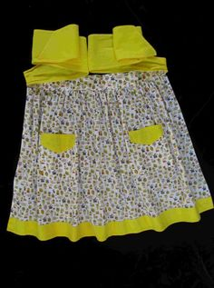 Vintage Homemade Apron, Vintage Fabric from 30s or 40s by ForgetMeNotVintageTN