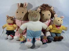 Large lot of Arthur plush toys dolls read brain dora buster francine mary pbs