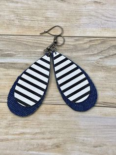 Denim blue jean earrings | Denim tear drop earrings and faux leather earrings #beadedjewelry,nativeamericanjewelry,handemadejewelry,handmadenecklace,handmadeearring
