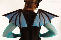 Learn how I made my dragon costume, dragon mask, and dragon wings. Full materials list and photo instructions. Dragon Halloween Costume, Dinosaur Costume, Halloween Costumes For Kids, Diy Girls Costumes, Costume Ideas, Family Costumes, Dance Costumes, Girls Dragon Costume, Make A Dragon