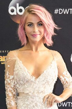 """Julianne Hough The Dancing with the Stars pro writes on her blog, """"It was time to shake things up. So I went… PINK!!!! The world can always be more colorful!"""" This hue is one of the more subtle hair colors to try, but if you're still nervous, use a wash out hair dye like Garnier Color Styler Intense Wash-Out in Pink Pop to give it a test drive before committing to permanent dye.   - Redbook.com"""