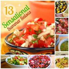 13 sensational summer salsas with 0 - 1 WW Points Plus. #WeightWatchers