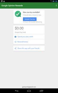 Google Opinion Rewards- screenshot thumbnail