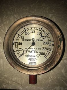 "1924 American Schaeffer Budenberg Water 5.5"" Steampunk Gauge Grinnell  | eBay"