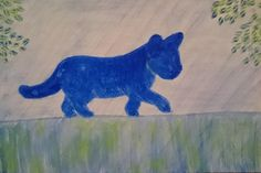 """""""Cat on a fence"""". Artmoney: Acrylic on paper. Love Art, Fence, Dinosaur Stuffed Animal, Original Art, Acrylics, Cats, Projects, Campaign, Painting"""