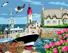 Mimo Verde canevas port breton