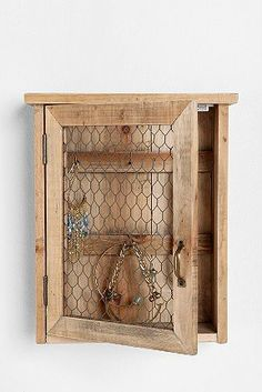 Reclaimed Wood Wall Jewelry Holder - eclectic - storage and organization - Urban Outfitters