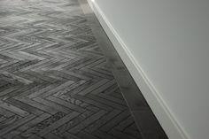 BLACK HERRINGBONE PARQUET – DOCKLANDS | Renaissance parquet