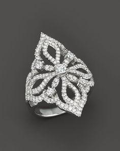 Diamond Statement Ring in 14K White Gold, 1.25 ct. t.w.