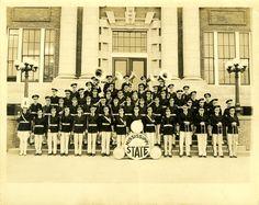 Mississippi State Marching Band.  Photographer: Luther M. Hamilton, Sr. MDAH  19--  Starkville, Mississippi  Oktibbeha County