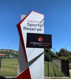 Danthonia Designs (@DanthoniaDesign) / Twitter Pylon Signage, Monument Signage, Wayfinding Signage, Signage Design, Booth Design, Parks In Sydney, Exterior Signage, Environmental Graphic Design, Led Signs