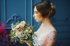 The bride Wedding style/make up & hair