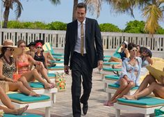 "In ""Magic City,"" the new original Starz series starring Jeffrey Dean Morgan, Miami is hot and heating up with the help of Olga Kurylenko, Danny Huston and Jessica Marais. Starz Series, Tv Series, Magic City, Thor R, Spartacus Seasons, Danny Huston, Cast Images, Series Premiere, Movies"