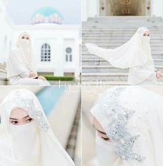 Hijabi Wedding, Muslimah Wedding Dress, Hijab Style Dress, Muslim Wedding Dresses, Disney Wedding Dresses, Muslim Brides, Wedding Bride, Bridal Dresses, Wedding Gowns