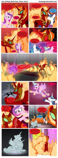 Sun Setting Misfortune MLP Comic: Stone Heart by teammagix on DeviantArt
