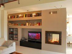 Idee Pareti Soggiorno In Cartongesso Libreria Living Room