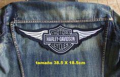 grande parche motero biker patches harley davidson (38cm)