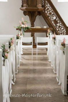 2x Hochzeits Blumen Dekoration für die Kirche für Bänke und Stühle FARBWAHL NEU