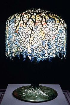 "Very fine genuine Tiffany Studios ""Wisteria"" table lamp. One of the most rare and valuable of all the patterns of lamps Tiffany Studios ever made by Tiffany Studios, New York."