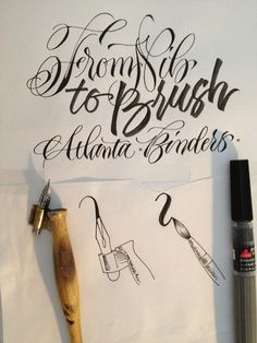 Copperplate Anglaise Zwelschrift Kalligrafie Mijn