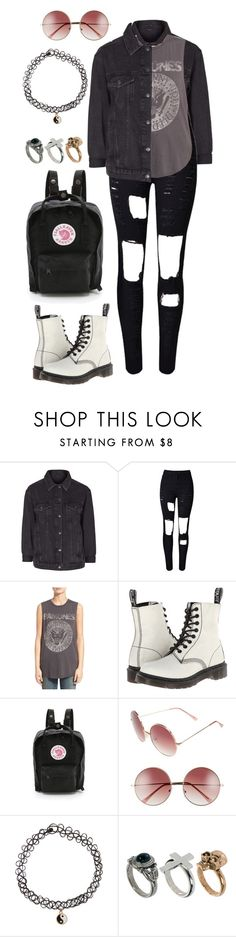 """""""#360"""" by uccelli ❤ liked on Polyvore featuring Topshop, Daydreamer, Dr. Martens, Fjällräven, A.J. Morgan, Accessorize and River Island"""