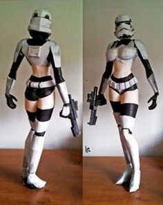 Star Wars Sexy Stormtrooper Papercraft