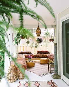 Bohemian-style porch: dream house!                                                                                                                                                                                 More