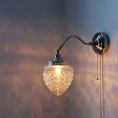 Gooseneck Wall Sconce - Glass Acorn Globe Shade