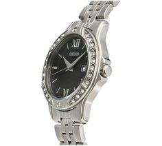 Buy Seiko Ladies' Black Dial Stainless Steel Bracelet Watch at Argos.co.uk, visit Argos.co.uk to shop online for Ladies' watches, Watches, Jewellery and watches