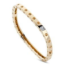 Roberto Coin Diamond Bangle Bracelet 18K