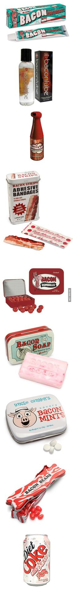 Interesting bacon products.