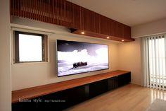 エアコン スリット収納家具  | kanna Living Room Tv, Wood Cabinets, Living Room Designs, New Homes, Lounge, House Design, Interior Design, Luxury, Furniture