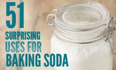 51 Fantastic Uses for Baking Soda _ Amazing article with surprising new ideas on how to use baking soda! Can't wait to use them! I already used it while boiling eggs and cleaned stainless steel pots! It works.