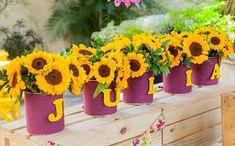 Resultado de imagem para tipos de lembrancinhas para aniversario de 70 anos tema flores